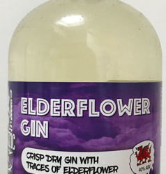 Bottle of craft elderflower gin